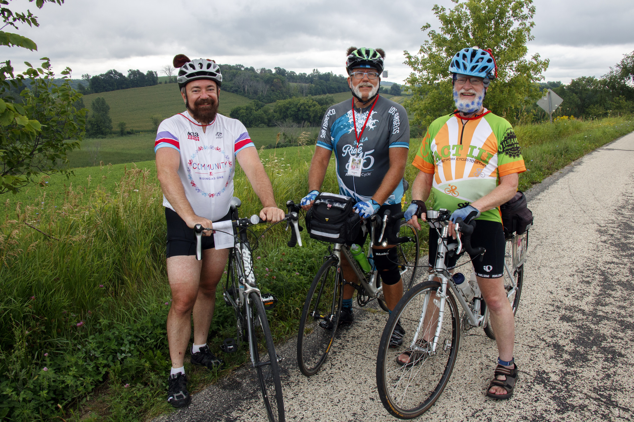 Wis AIDS Ride 2016 Colorful riders Day 2.jpg